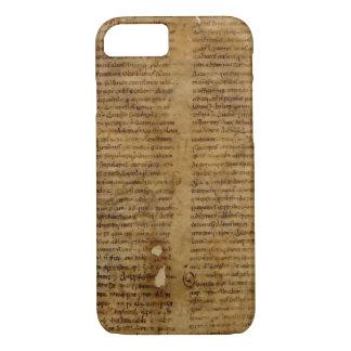 Parchmenttext med antik handstil, gammalt papper