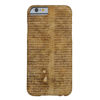 Parchmenttext med antik handstil, gammalt papper barely there iPhone 6 fodral