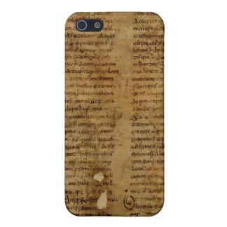 Parchmenttext med antik handstil, gammalt papper iPhone 5 hud