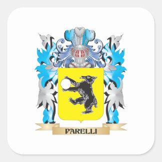Parelli vapensköld - familjvapensköld fyrkantigt klistermärke