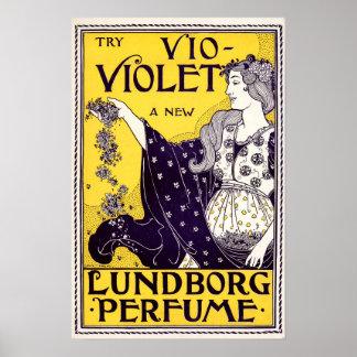 Parfymannons för art nouveau 1895 av Louise John Poster