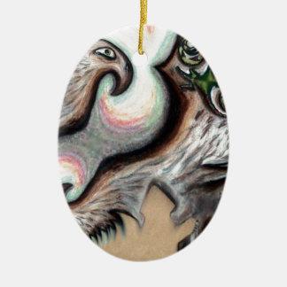 Pari Chumroo produkter Ovalformad Julgransprydnad I Keramik