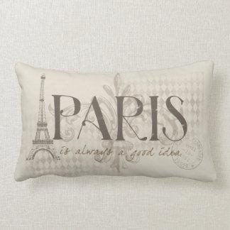 Paris är en bra idé kudder alltid lumbarkudde