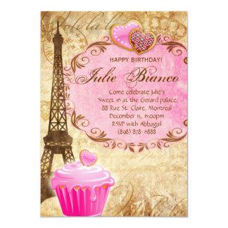 Paris Eiffel för 747 födelsedagsfest torn söta 16 12,7 X 17,8 Cm Inbjudningskort