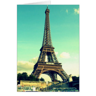 Paris/Eiffel torn Notecard (förbigå), OBS Kort