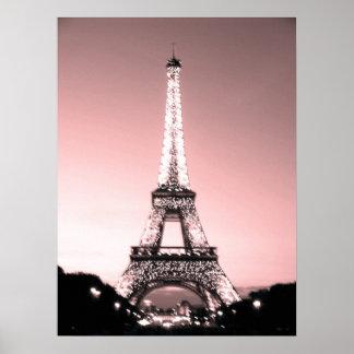 Paris Eiffel torn Poster