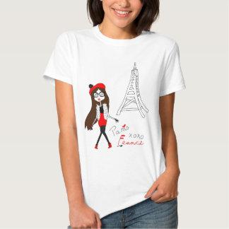 Paris flicka tee