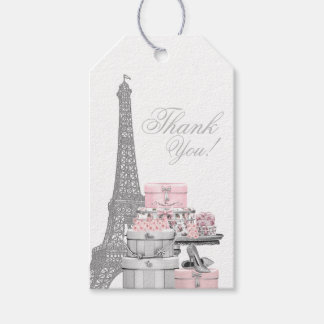 Paris födelsedagsfestfavör presentetikett