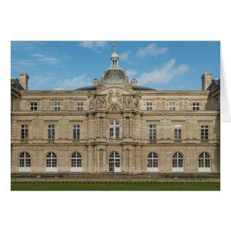 Paris för senat för Luxembourg slott franska Hälsningskort