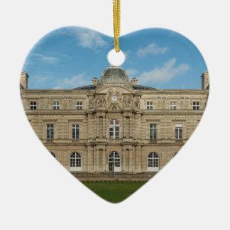 Paris för senat för Luxembourg slott franska Hjärtformad Julgransprydnad I Keramik