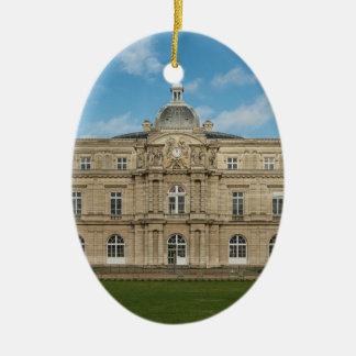 Paris för senat för Luxembourg slott franska Ovalformad Julgransprydnad I Keramik