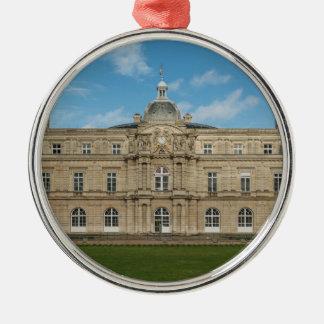 Paris för senat för Luxembourg slott franska Rund Silverfärgad Julgransprydnad