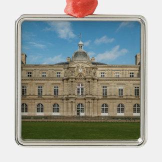 Paris för senat för Luxembourg slott franska Silverfärgad Fyrkantigt Julgransprydnad