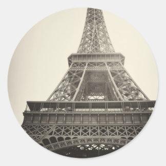 Paris frankrike runt klistermärke