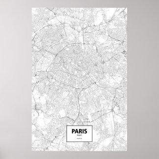 Paris frankrike (svarten på vit) poster