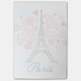 Paris frankrikekärlek post-it lappar