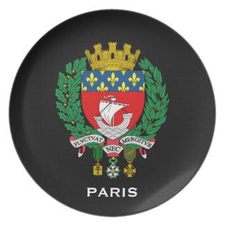 Paris frankriken CollectorsSouvenir pläterar Tallrik