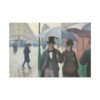 Paris gata på en regnig dag av Gustave Caillebotte Canvastryck