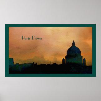 Paris Dawn Skyline