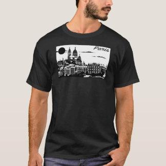 Paris manar grundläggande mörka T-tröja T-shirt