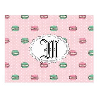 Paris måne Macaron och polkadots Vykort