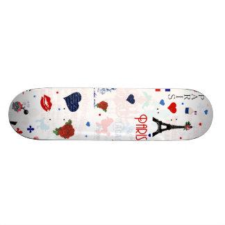 Paris mönster med det Eiffel torn Skateboard Bräda 20 Cm