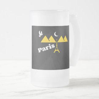 Paris muggar, frostad glas mugg