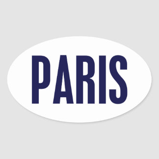 Paris Ovalt Klistermärke