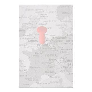 Paris på kartan brevpapper