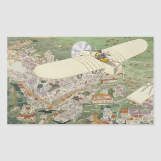 Paris-Rome Monoplane Beaumont Le Gagnant Bleriot Rektangulärt Klistermärke