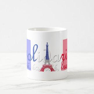 Paris/Solidarité/Liberté/French flagga Kaffemugg