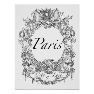 Paris: Stad av illustrationen för Poster