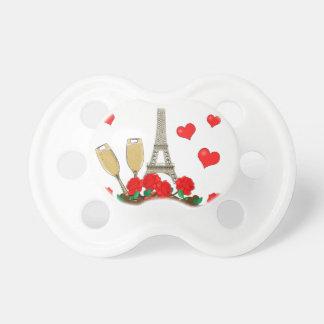Paris stad av kärlek napp för baby