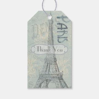 Paris tillfogar det företags partyet logotypen presentetikett