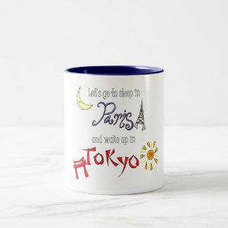 Paris Tokyo Två-Tonad Mugg
