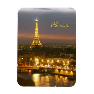 Paris vid natt magnet