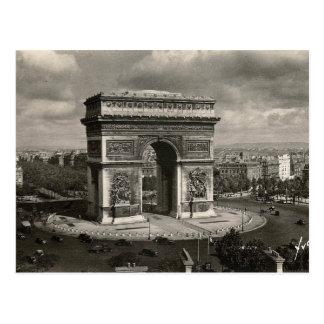 Paris vintage Arc de Triomphe 1943 Vykort