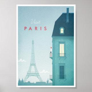 Paris vintage resoraffisch poster