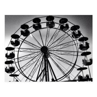 Pariserhjul i svartvita fotogåvor vykort