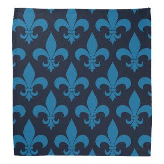 Parisian design för blåttFleur de lis Fransk mönst Scarf