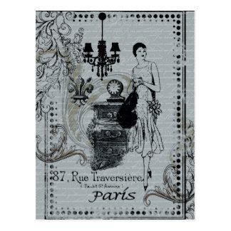 Parisian mode vykort