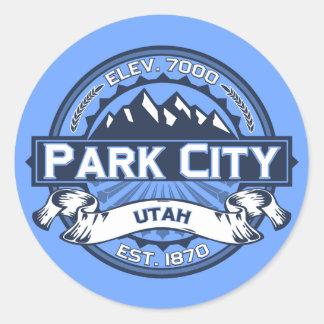 Park City blått Runt Klistermärke