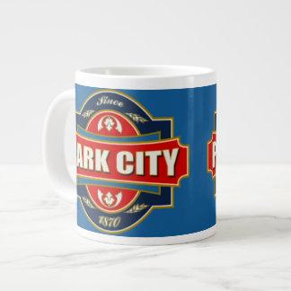 Park City gammal etikett Jumbo Mugg