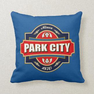 Park City gammal etikett Kudde