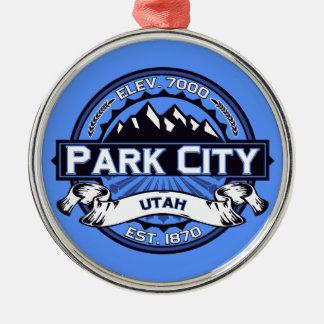Park City logotypblått Julgransprydnad Metall