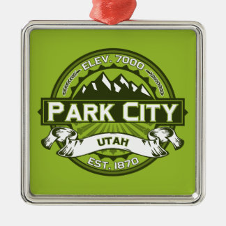 Park City logotypgrönt Julgransprydnad Metall