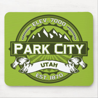 Park City logotypgrönt Musmatta