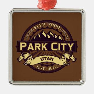 Park City logotypSepia Julgransprydnad Metall