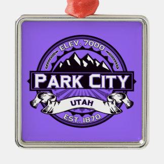 Park City logotypViolet Julgransprydnad Metall