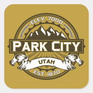 Park City solbränna Fyrkantigt Klistermärke
